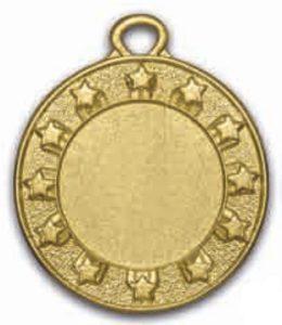 Medaglia stelline colore oro diametro 40