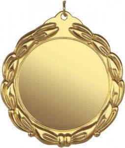 medaglia colore oro diametro 70